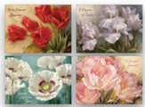 Spring Flowers/Floral Sympathy Cards, Box of 12