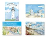 Beach Scene Birthday Cards, Box of 12