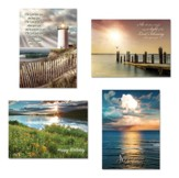 Ocean Scenes Birthday Cards, Box of 12