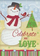Snowman Celebrating (Psalm 118:24, KJV), 20 Count Boxed Christmas Cards