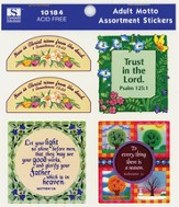 Adult Motto Assortment Stickers