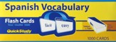 Spanish Vocabulary Flash Cards (Box of 1000)