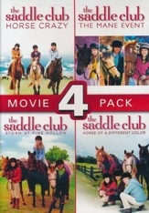 The Saddle Club Movie 4 Pack: Horse Crazy, The Mane Event, Storm at Pine Hollow, and Horse of a Different Color