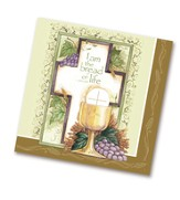 Communion, Cross and Chalice Napkins, Pack of 20