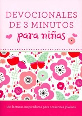 Devociones de 3 Minutos para Niñas  (3-Minute Devotions for Girls)