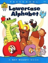 General Learning-Lowercase Alphabet, Preschool Get Ready Workbooks