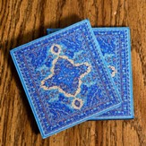 Carpet Coaster, Blue, Pack of 2