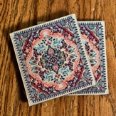 Carpet Coaster, Gold, Pack of 2