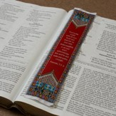 Carpet Bookmark, Red, Proverbs 3:5-6