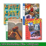 ACE 24-Week (4 Subjects), Single Student Complete PACE Kit, Grade 1, 3rd Edition (with 4th Edition Science & Social Studies)