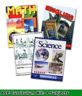 ACE Core Curriculum (4 Subjects), Single Student PACEs Only Kit, Grade 10, 3rd Edition