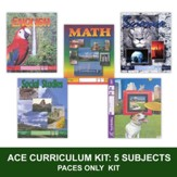ACE Comprehensive Curriculum (5  Subjects), Single Student PACEs Only Kit, Grade 9, 3rd Edition