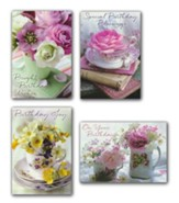 Teacup Wishes Birthday Cards, Box of 12 (KJV)