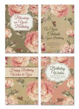 Floral Rapture Birthday Cards, Box of 12 (KJV)