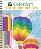 ColorArt Dot To Dot Pictures, with a Set of Colored Pencils