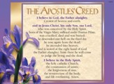 Catholic: Apostles Creed - Laminated Poster
