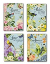 Garden Motif Birthday Cards, Box of 12 (KJV)