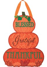 Blessed Grateful Thankful Decor