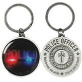 Police Officer's Prayer Keyring