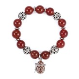 Prayer Box Enamel Bracelet, Red