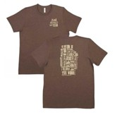 Names of Jesus Shirt, Brown, X-Large