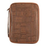 Names of Jesus Bible Cover, Large, Brown