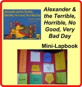 Alexander & the Terrible, Horrible,  No Good, Very Bad  Day Mini-Lapbook - PDF Download [Download]