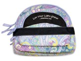 Let Your Light Shine, Quilted Cosmetic Bag, Blue