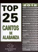 Top 25 Cantos de Alabanza, Libro de Canciones  (Top 25 Worship Songs, Songbook)