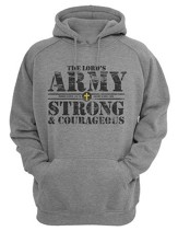 The Lord's Army, Hooded Sweatshirt, Gray, Large
