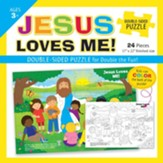 Jesus Loves Me Double-Sided Puzzle