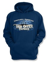 This Offer Expires, Hooded Sweatshirt, Navy, Large