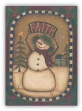 Faith Snowman Christmas Cards, Box of 20