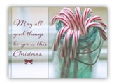 Candy Cane Jar Christmas Cards, Box of 20