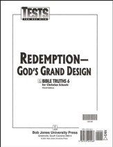 BJU Bible Truths 6: Redemption-God's Grand Design, Tests
