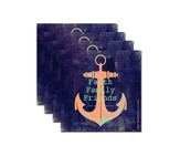 Faith, Family, Friends Anchor Coaster Set
