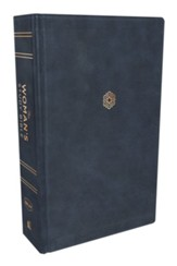 NKJV Woman's Study Bible--soft leather-look, navy blue