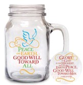 Peace on Earth, Mason Jar Mug