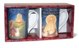 Silent Night and Born A Savior Mugs, Set of 2