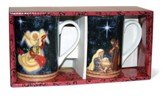 Holy Family and Angel Mugs, Set of 2