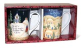 Bethlehem and Go Tell It On the Mountain Mugs, Set of 2
