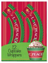 Joy Love Peace Believe Cupcake Wrappers, Pack of 12