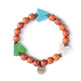 Butterfly, Children's Friendship Bracelet, Hope, Brown, Multi