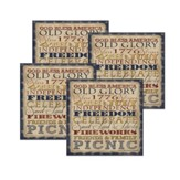 God Bless America, Coasters, Set of 4