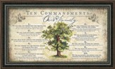The Commandments For Our Family Framed Art