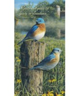 Grace and Peace Be Yours, Bluebirds, Tripad Notepads