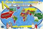 Kids' Puzzle of the World 80 Piece Jigsaw Puzzle