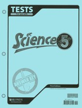 BJU Science Grade 5 Tests Answer Key, Third Edition