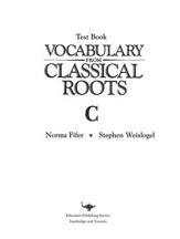 Vocabulary from Classical Roots  Blackline Master Test: Book C (Homeschool Edition)