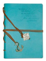 Hope As an Anchor, Blue Journal with Charm